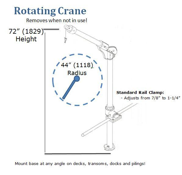 3000 junior rotating crane for Motorized rotating crane hook