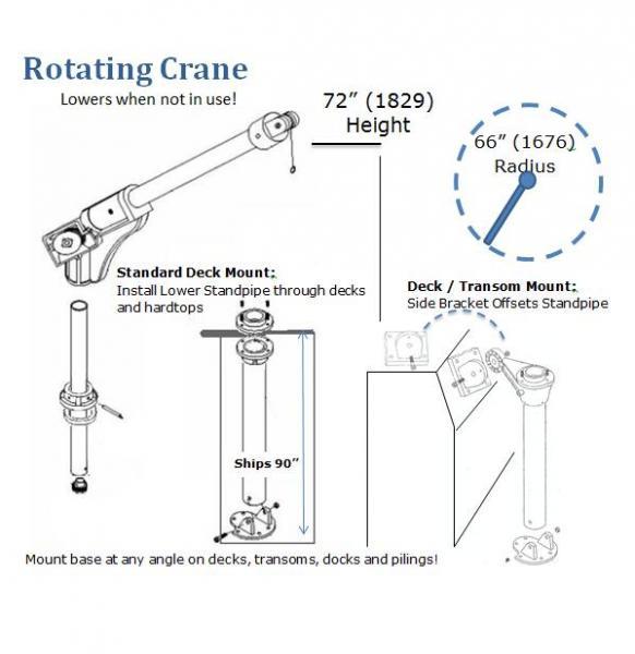 6500r rotating crane for Motorized rotating crane hook