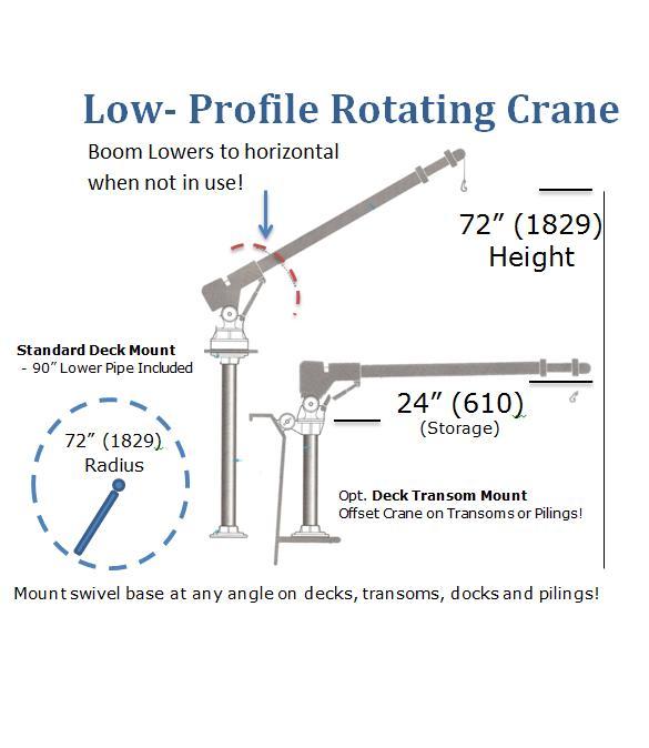 8000t low profile rotating crane for Motorized rotating crane hook